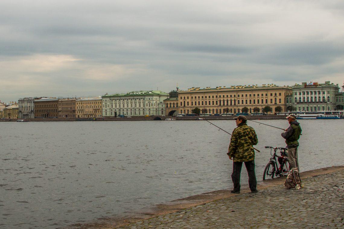 Angler in der Stadt