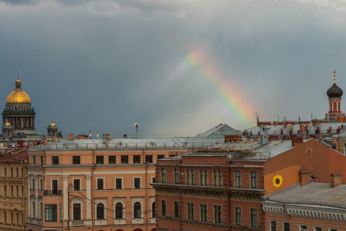 Regenbogen über St. Petersburg