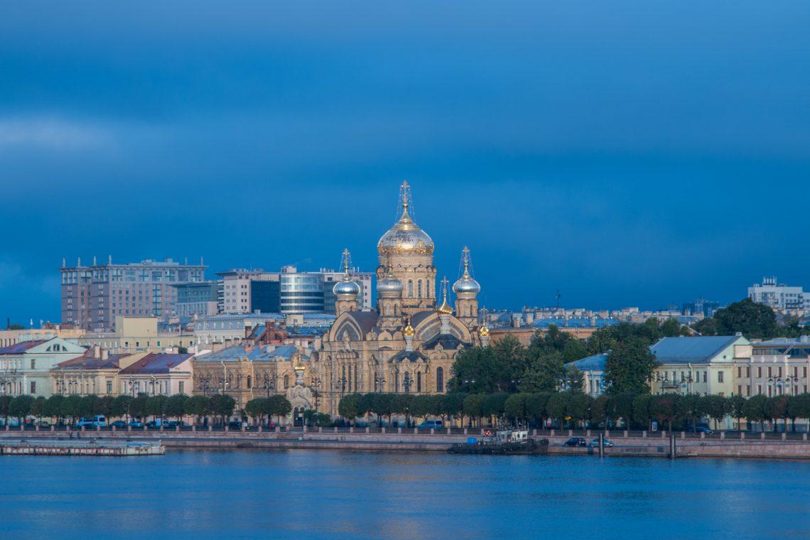 Blaue Stunde in St. Petersburg